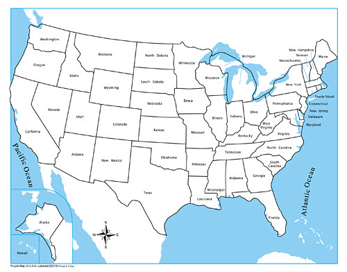 Control Map Labelled - USA -