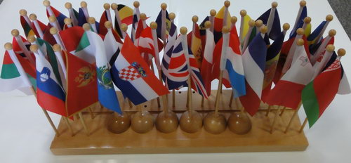 Flags & Stand of Europe (45 flags) - Flags & Stand of Europe (45 flags)