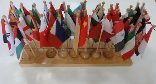 Flags & Stand of Asia (47 flags) - Flags & Stand of Asia (47 flags)