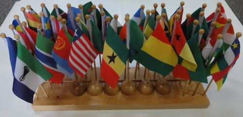 Flags & Stand of Africa (48 flags) - Flags & Stand of Africa (48 flags)