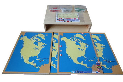 Pin Maps of North America Set & Cabinet -