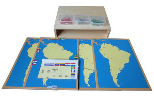 Pin Maps of South America Set & Cabinet -