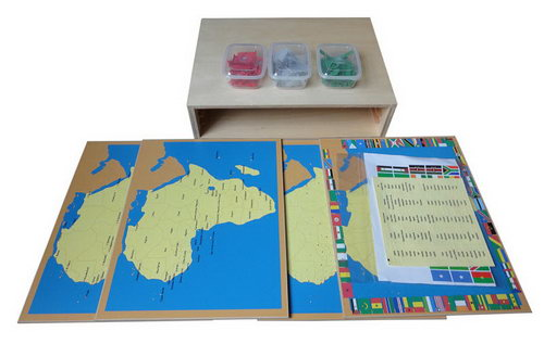 Pin Maps of Africa Set & Cabinet -