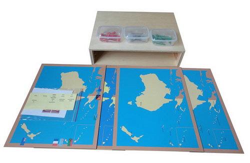 Pin Maps of Australia Set & Cabinet - Pin Maps of Australia Set & Cabinet