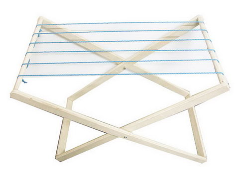 Drying Timber Stand for Cloths - White - Drying Stand for Cloths