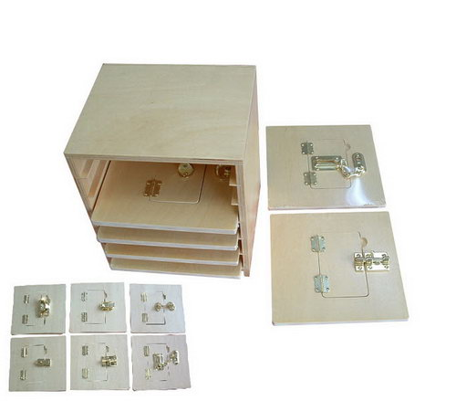 Latch Boards & Cabinet Set (6 boards  20x20cm) - Latch Boards & Cabinet Set (6 boards  20x20cm)