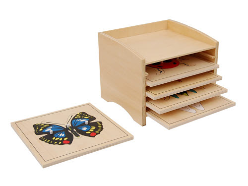 Insect Puzzle Cabinet wth 5 Puzzles - Insect Puzzle Cabinet wth 5 Puzzles