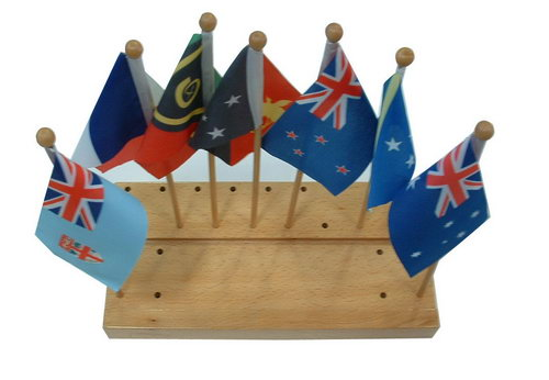 Flags & Stand of Australasia (7) - Flags & Stand of Australasia (7)