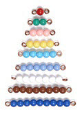 Bead Stair Bars 1-9 Coloured Individual Beads - Bead Stair Bars 1-9 Coloured Individual Beads