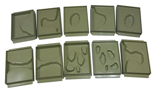 Land and Water Form Trays (10pcs) sml - Land and Water Form Trays (10pcs) sml