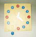Clock with Removable Numbers (Timber) - Clock With Hands and Removable Numbers (Timber)