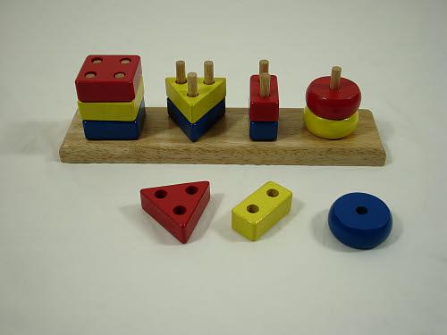 Geometric Peg Board  with Sorting Bricks - Geometric Peg Board  with Sorting Bricks