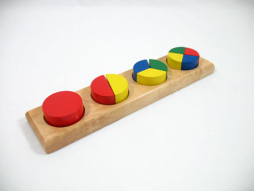 Round Coloured Fraction Bricks - Round Coloured Fraction Bricks
