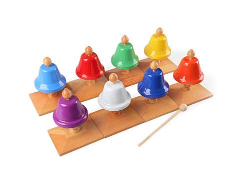 Bells Set for Toddlers Colour (8 Bells) - Bells Set for Toddlers - Colour