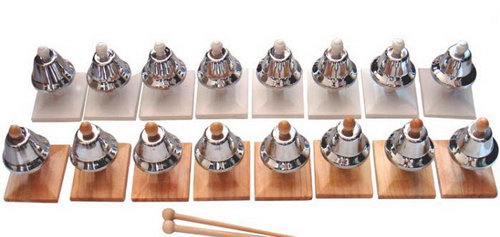 Bells Set: 8 Pairs - Silver  (16 Bells) - Bells Set: 8 Pairs - Silver  (16 Bells)