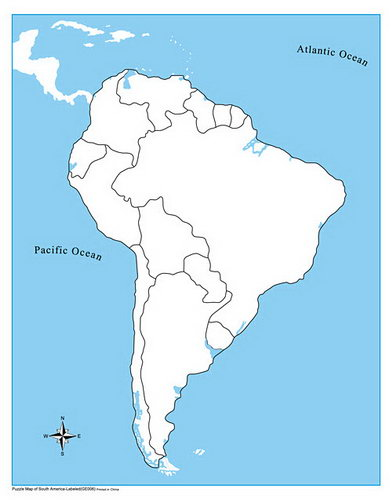 Control Map Unlabelled - South America - Control Map Unlabelled - South America