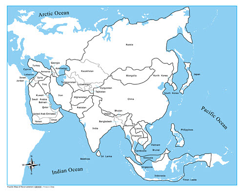 Control Map Labelled - Asia - Control Map Labelled - Asia