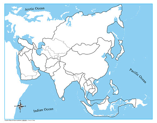 Control Map Unlabelled - Asia - Control Map Unlabelled - Asia