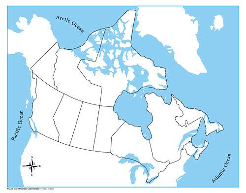 Map Of Australia Unlabelled.Control Map Unlabelled Canada A2z Montessori Australia