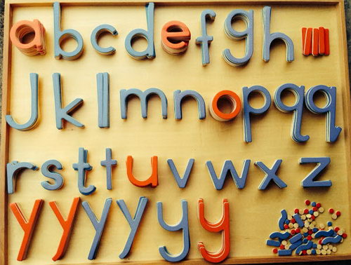 Movable Alphabet Large Print Red V Blue C (No Box) - Movable Alphabet Large Print Red V Blue C (No Box)