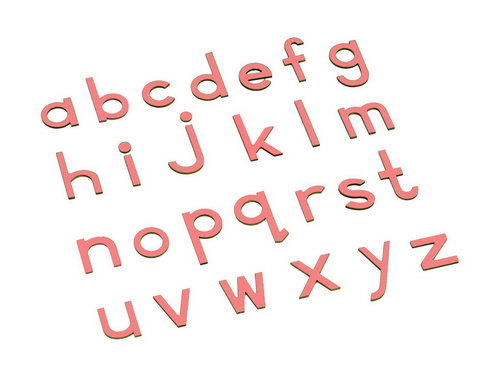 Movable Alphabet - Small Print Pink - Movable Alphabet - Small Print Pink