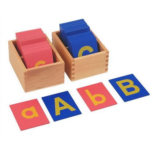 Sandpaper Letters - Lower Case & Upper Case Tile in Box - Sandpaper Letters - Lower Case & Upper Case Tile in Box