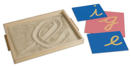 Sand Tracing Tray with Yellow Refined Sand - Sand Tracing Tray with Yellow Refined Sand