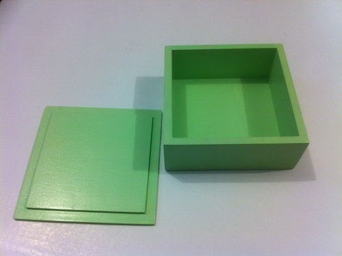 Wooden Language Box with Lid - Green - Wooden Language Box with Lid - Green