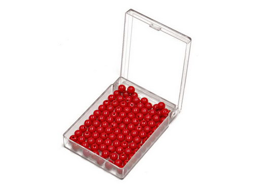 Bead Units set of 100 Red, Nylon - Bead Units set of 100 Red, Nylon
