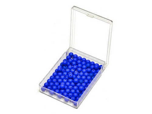 Bead Units set of 100 Blue, Nylon -