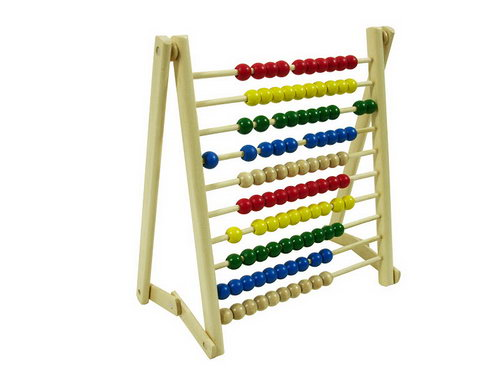 Abacus with Coloured Beads -