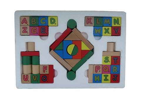 Letter Building Blocks -