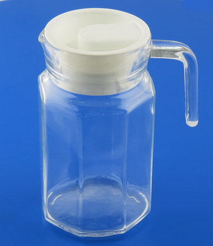 Glass Pitcher 400ml with Pouring Lid - sml - Glass Pitcher 400ml with Pouring Lid