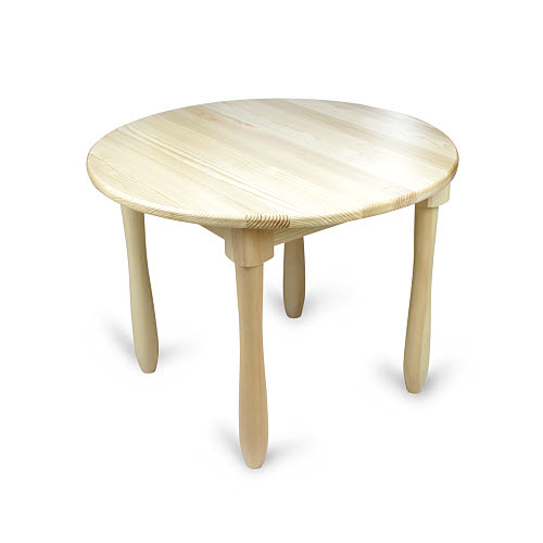Table Round 0-3 Solid Pinewood Limited Stock - Table Round 0-3 Solid Pinewood