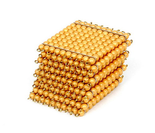 Golden Bead Square Of 100, Individual Beads  X 9 -