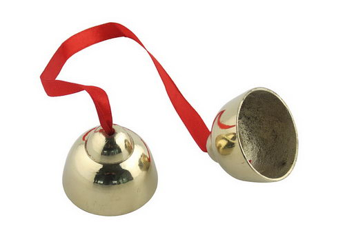Bells and Ribbon - brass finish - Bells and Ribbon - brass finish