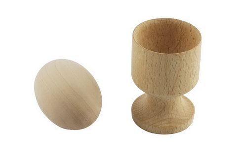 Wooden Egg and Cup - Wooden Egg and Cup