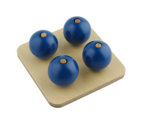 Four Blue Balls on Small Pegs - Four Blue Balls on Small Pegs