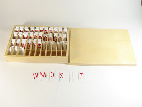 Movable Alphabet Red Capital & Lower Case Print with Box - Movable Alphabet Red Capital & Lower Case Print with Box