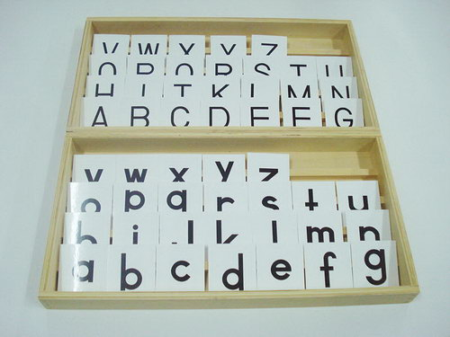 Alphabet Chart Print, Upper Lower Case with Box - Alphabet Chart Print, Upper Lower Case with Box