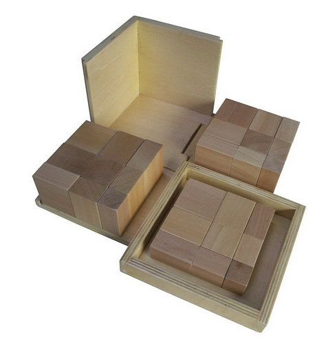 Trinomial Cube - Natural -