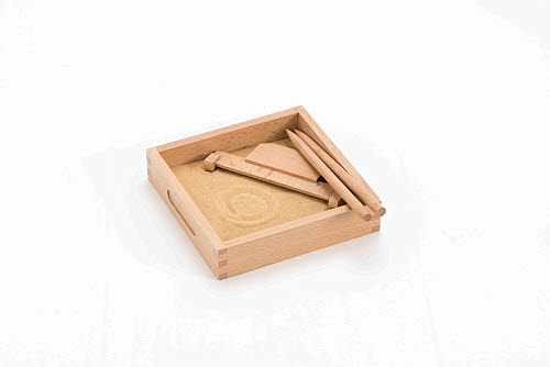 Sand Tracing Tray with Tools - Small - Sand Tracing Tray with Tools - Small