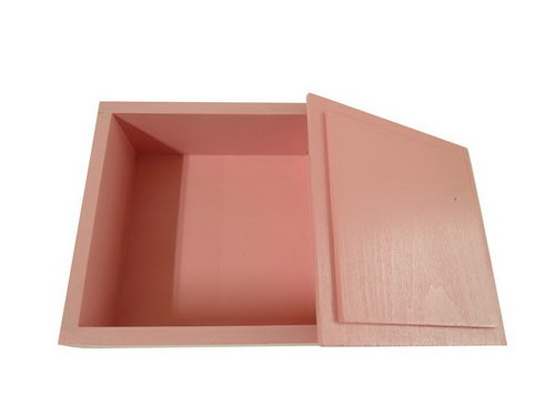 Wooden Language Box with Lid - Pink - Wooden Language Box with Lid - Pink