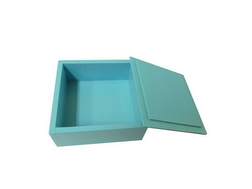 Wooden Language Box with Lid - Blue - Wooden Language Box with Lid - Blue