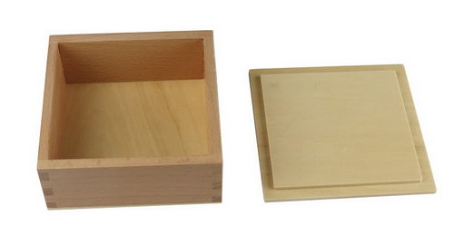 Wooden Language Box with Lid - Natural - Wooden Language/Beads  Box with Lid - Natural