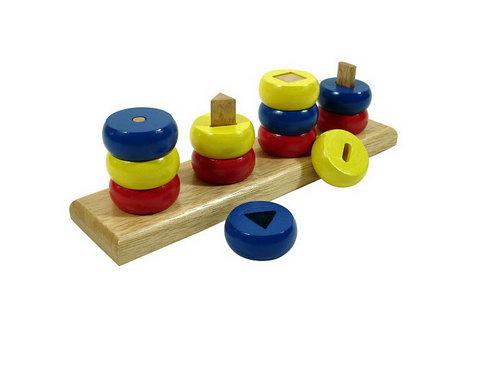 Round Bricks on Shaped Pegs - Round Bricks on Shaped Pegs