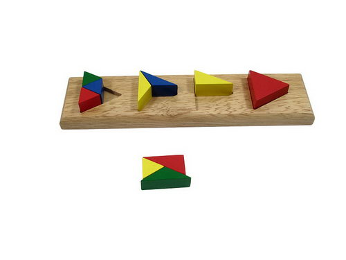 Triangle Colour Sorting Bricks - Triangle Colour Sorting Bricks