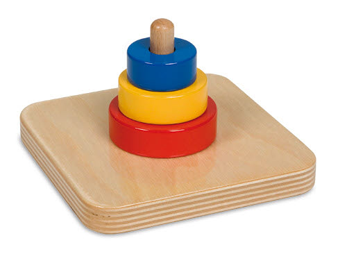 Disc Tower on a Vertical Dowel - Disc Tower on a Vertical Dowel