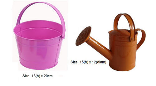 Steel Gardening Set - inc Tools, Bucket, Watering Can  -6Pcs - Steel Gardening Set, Tools, Bucket, Watering Can 6Pcs