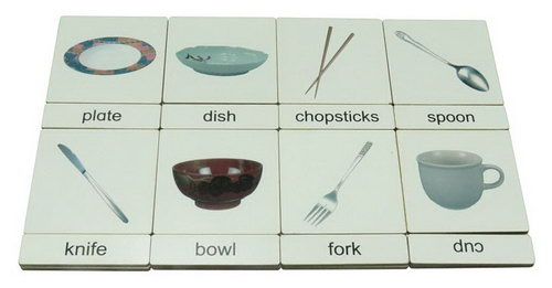 Classification 3 Part Timber Cards - Tableware -